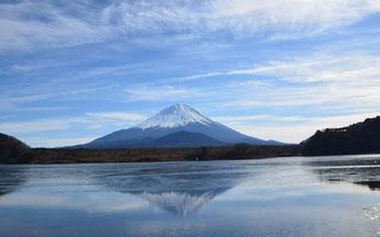 精進湖より富士山画像
