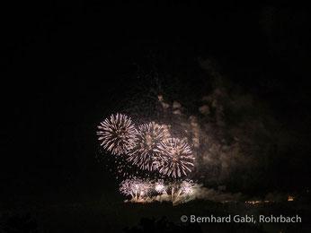 Bernhard Gabi, Fotoclub Huttwil, Feuerwerk auf dem Gurten