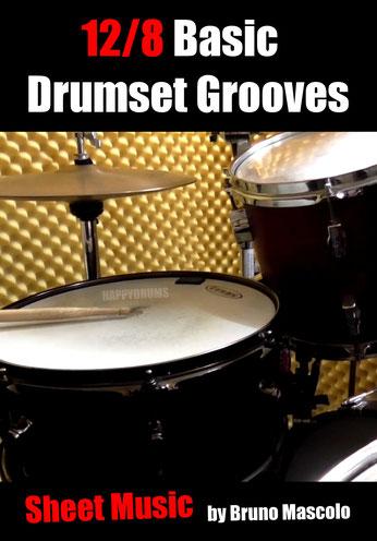 12/8 Basic Drumset Grooves für Anfänger und leicht Fortgeschrittene