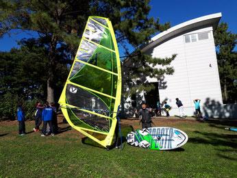 ウインドサーフィン スクール 海の公園 初心者 体験 スピードウォール