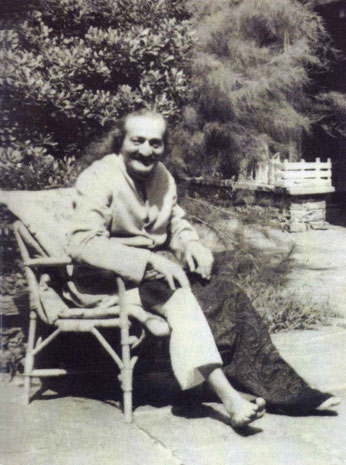 Meher Baba recupirating in Switzerland  in August 1952 before going back to India. Image courtesy of Glow Int. magazine