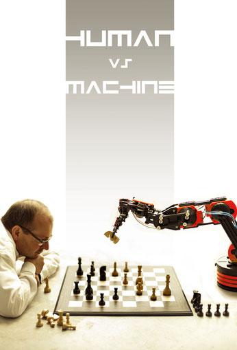 Match gegen den Schachcomputer Andros Alpha