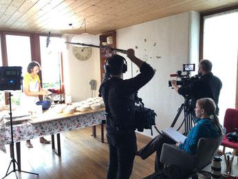 Filmteam ORF Reportage zum Brotbacken