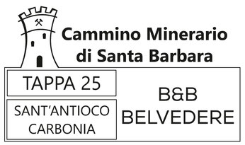 Timbro Tappa 25 - Cammino Minerario di Santa Barbara - B&B Belvedere Sant'Antioco