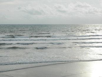 今日も波有りますが、オンショアコンディションです。