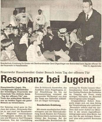 Jülicher Nachrichten vom 08.06.2001