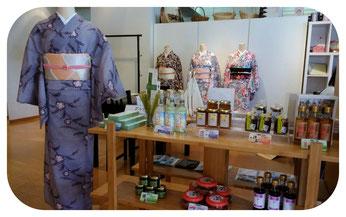 ちーびずプラザでは三部式きもの体験とちーびず商品の展示販売 ワークショップをしています