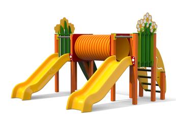 multifunzione Cespuglio Scivolo Ciuffo tunnel, giochi per parco, giochi per parchi, attrezzature per parchi gioco, strutture ludiche Stileurbano Ciuffo Baobab certificati Norma EN1176 CATAS stileurbano oratorio FOM odielle abbiategrasso