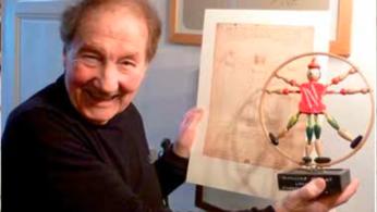""""""" L'Homme de Vitruve marionnette """" par Carlo Pedretti, historien de l'art italien et expert de la vie et des œuvres de Léonard de Vinci (1928/2018)"""
