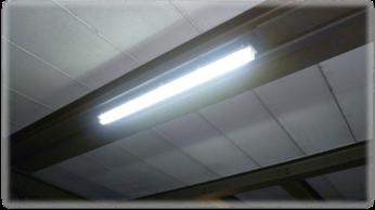 Unsere erste 320°-Glas-LED-Röhre im Dauertest (seit 4 Jahren) im Heizwerk der Erlanger Stadtwerke. Schwere Bedingungen bei Temperaturen von ca. 65°C.