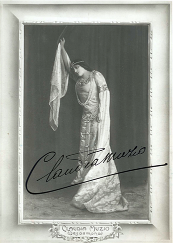 Soprano Claudia Muzio