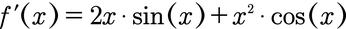 Ableitung einer Funktion, welche aus zwei Funktionen besteht durch Anwendung der Produktregel