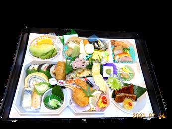 箱膳:5,000円(税別) <税込5,400円>蟹などは時期により内容が変わります
