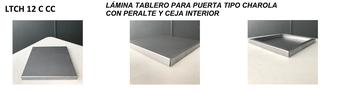 LAMINA TABLERO PARA PUERTA TIPO CHAROLA CUADRADA CON PERALTE Y CEJA INTERIOR