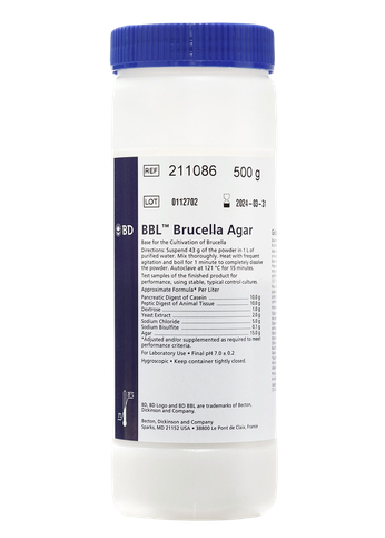211086 BD BBL™ Agar Brucella, 500 g