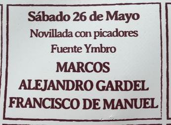 Marcos Alejandro Gardel Francisco de Manuel Fuente Ymbro