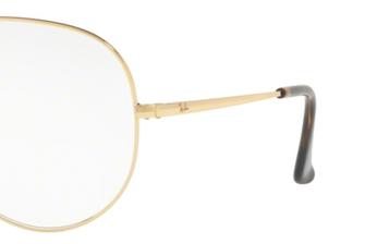 Occhiali da vista Ray-Ban unisex 0RX 6489 AVIATOR. Colore: 2500 oro. Forma: goccia. Materiale: metallo.