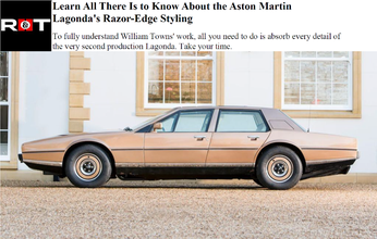 Road and Track 3/05/2017 - The Aston Martin Lagonda's Razor-Edge Styling