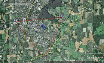 Die Standorte der drei Seismometer der Christian-Albrecht-Universität: in Stipsdorf, in Klein Gladebrügge und auf dem Gelände des WZV