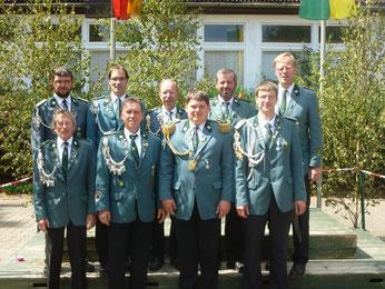 von links hinten: Sebastian Schulz, Andreas Olschner, Andreas Neubauer, H.-W. Külbs, Jens Hesebeck - vorne: Manfred Grönecke, Frank Uttich, Axel Siemke, Henry Gausmann