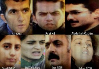 7 af de ialt 8 anholdte medlemmer af Grup Yorum