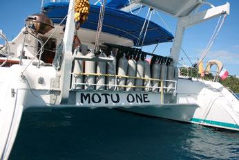 Notre catamaran : le Motu One
