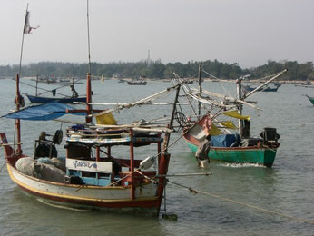Fisherboats in Prachuap Khirikhan