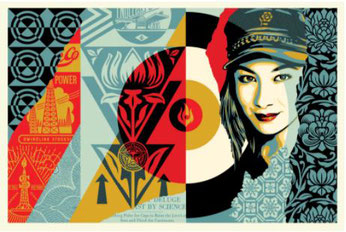 Shepard Fairey,  Raise the Level, 2019