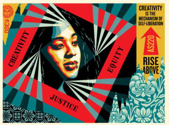 Shepard Fairey, Creativity, Equity, Justice, 2019