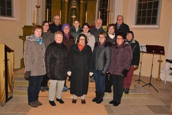 Die Mitwirkenden des Kirchenchores in der Schlosskapelle Persenbeug.
