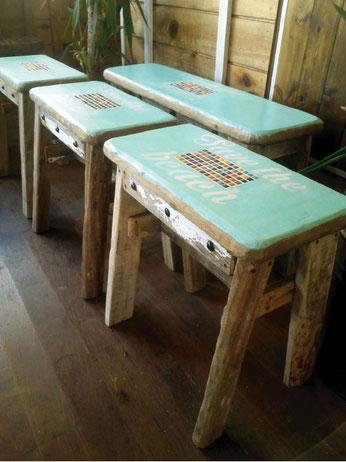 サーフインテリア 流木家具