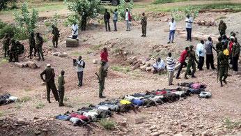Massacro di cristiani in una cava nella zona Kormey a circa 10 miglia da Mandera.