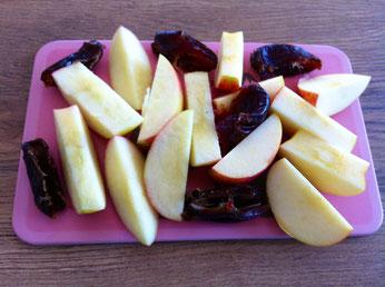 Äpfel und Datteln als Teil der 3:6:9 Leberkur nach Anthony William