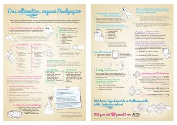 vegane Alternativen zu Ei - Peta veganes Backpapier