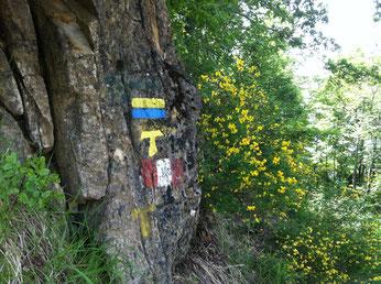 Markierungen am Franziskus-Weg