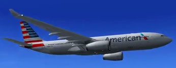 American A330-200 jetliner on way to San Juan