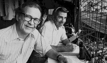 Nella foto, a sx Ernie Harwell e a dx Paul Carey