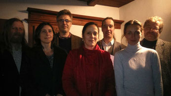 (v.l.n.r.) Uwe Lammla, Kerstin Klare, Hansjörg Rothe, Viola Grandke, Dietmar Schulze, Daniela Krien, Gregor Miklis