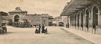 La Stazione Leopolda di Livorno (a destra), presso la Porta San Marco