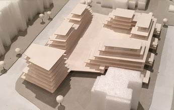 So soll das neue Einkaufszentrum aussehen: Deutlich zu sehen ist hier die großzügige Terrasse zur Überdachung. (Modelldarstellung)