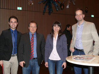 v. l.: Matteo Dolce, Tobias Schrödel, Bela Bach, Matthias Treff
