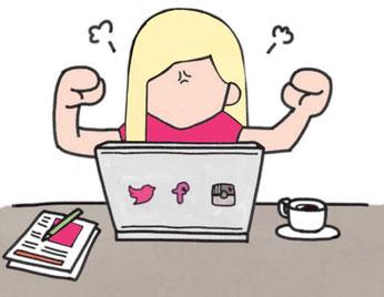 C-Caro s'adresse aux indépendants qui veulent se faire connaître via un site web et/ou qui veulent développer une image cohérente de leur activité