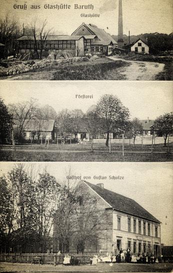 Glashütte/ Baruth um 1910, Geburtsort von Reinhold Burger