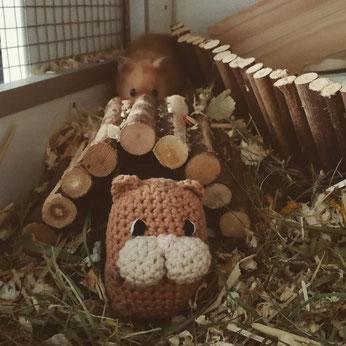 gehäkelter Hamster Kuscheltier handgemacht