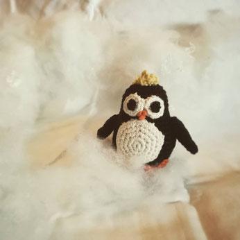 gehäkelter Pinguin handgemacht Kuscheltier