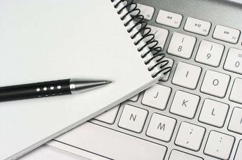 laptop mit blog