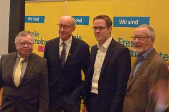 v.l. Eckhard Fuhrmann, Hermann Ludewig, Thorsten Baumgart, Ernst Sebbel