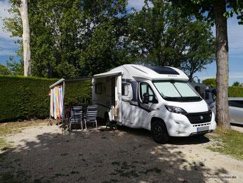 """Unser erster, riesiger Stellplatz auf """"Camping Tiglio"""""""