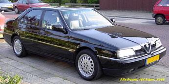 Alfa 164 3.0 V6 super, pianozwarte lak
