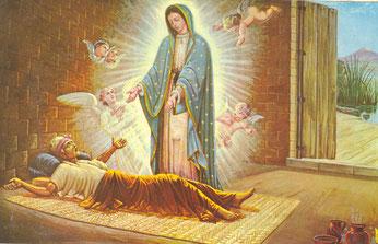 Pittura che padre Enrique Amezcua Medina ha fatto realizzare in occasione della quinta apparizione della Madonna di Guadalupe